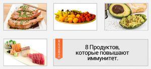 8 продуктов для иммунитета.