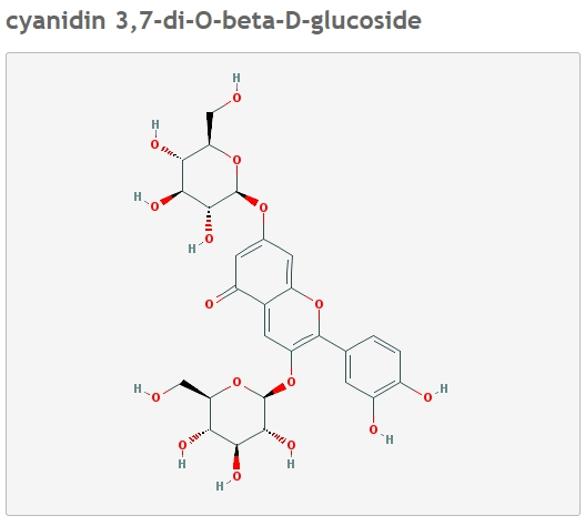 Цианидин формула